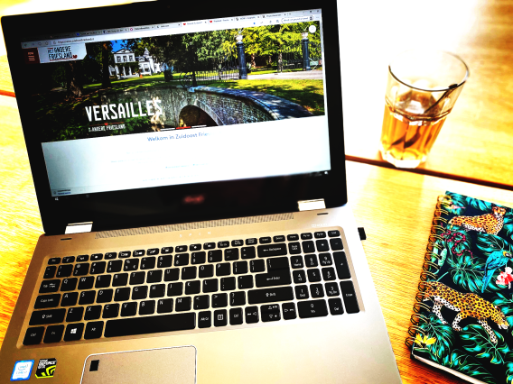laptop website homepage het andere friesland.